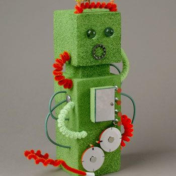 Green Styrofoam Robot