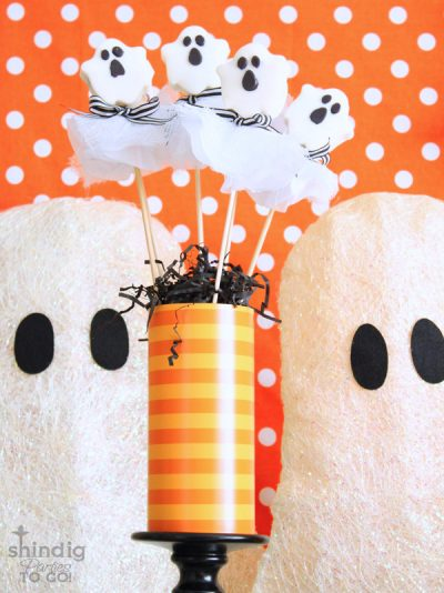 Ghost Cookie Pops