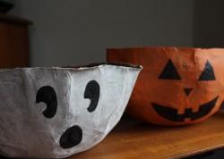 Halloween Paper Bag Bowls