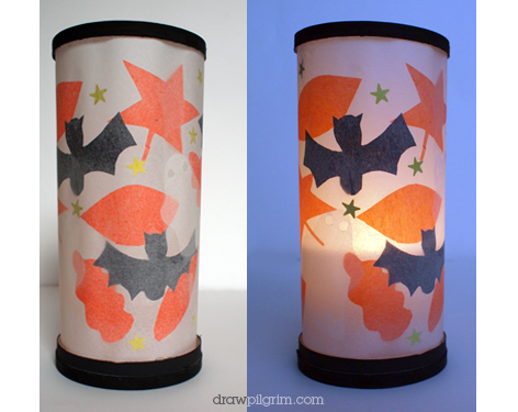 Parchment Paper Halloween Lantern Fun Family Crafts