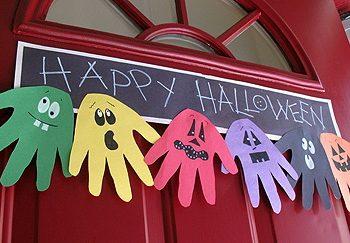 Halloween Hand Print Ghoul Banner