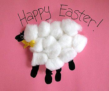 Handprint Easter Lamb
