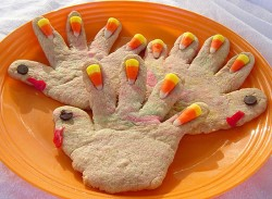 Hand Print Turkey Cookies