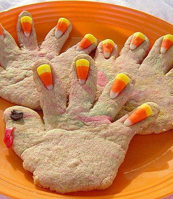 Hand Print Turkey Cookies