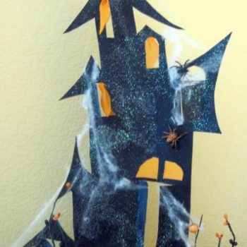 Poster Board Haunted House