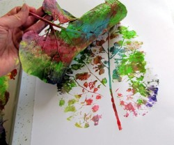 Fall Leaf Printing