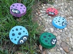 Plastic Lid ladybugs