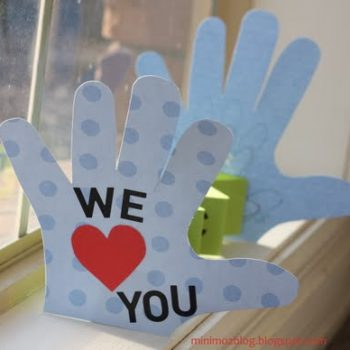 Love You Handprint Card