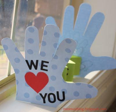Love You Handprint Card