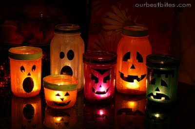 Halloween Mason Jar Lanterns Fun Family Crafts