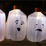 Solar Milk Jug Ghosts