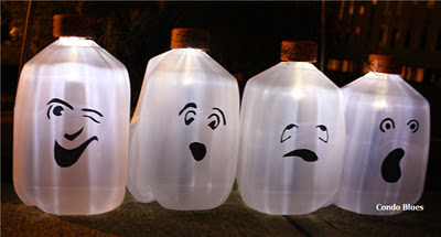 solar milk jog ghosts - Milk Carton Halloween Ghosts