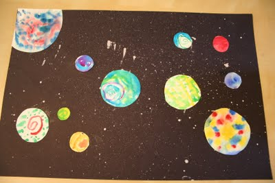 Outer Space Picture | Fun Family Crafts