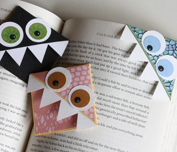 Monster Page Corner Bookmarks