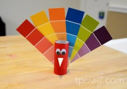 Paint Chip Turkeys