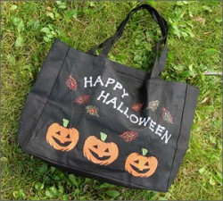 Painted Trick or Treat Bag