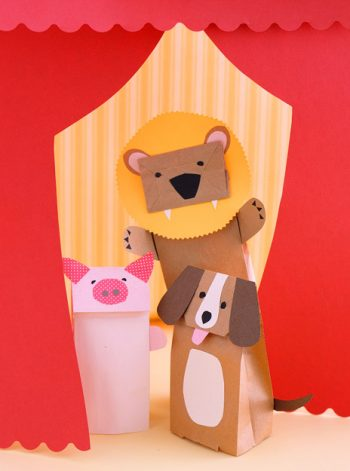Paper Bag Animal Puppets