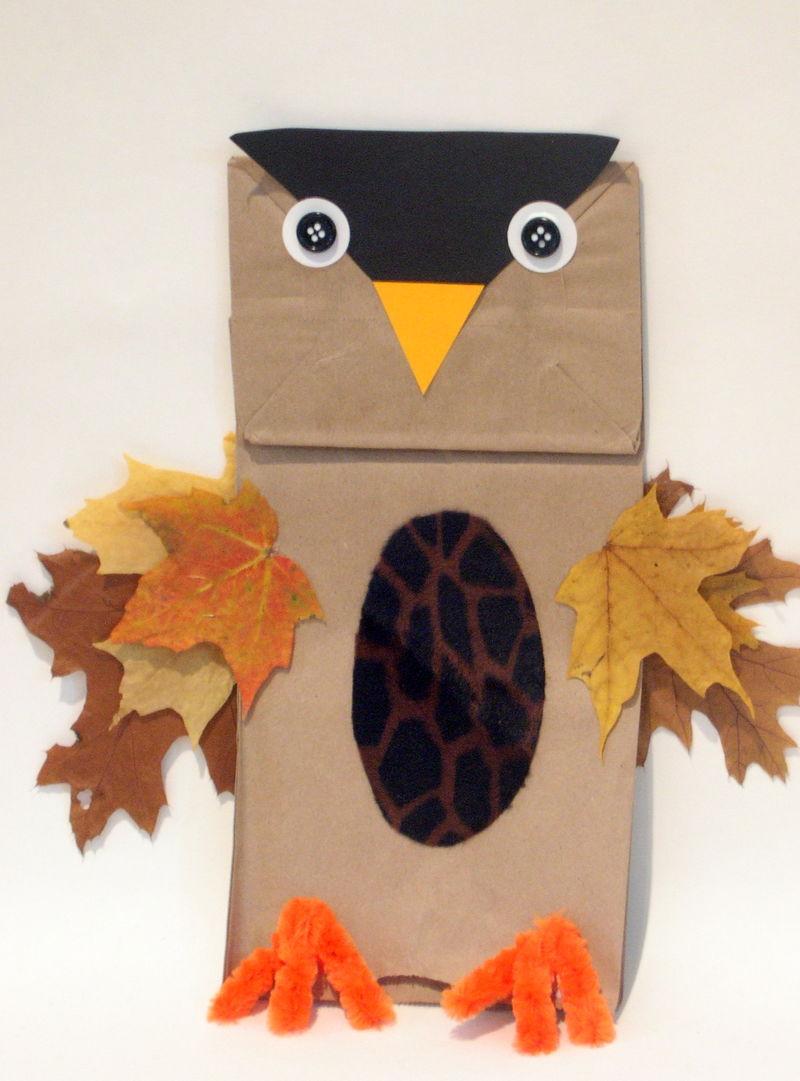 Paper bag owls fun family crafts jeuxipadfo Choice Image
