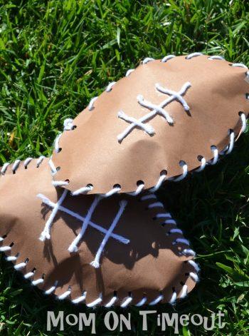 Sewn Paper Footballs