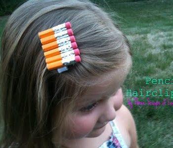 Pencil Hair Clips