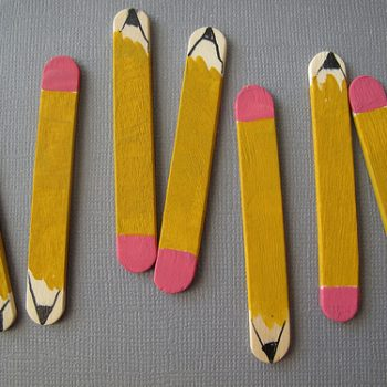 Craft Stick Pencil Magnets