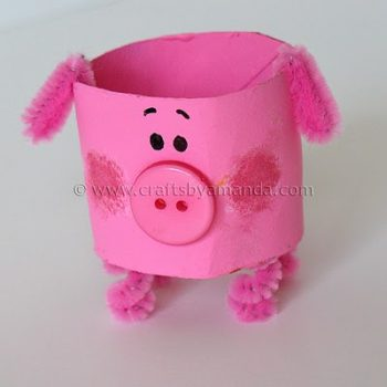 Cardboard Tube Pig