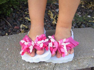 Ribbon Flip Flops Fun Family Crafts