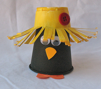 Craft Ideas  Paper Cups on These Cute Little Crow Is A Perfect Fall Craft  Made From Cups And