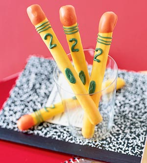 Candy Pretzel Pencils