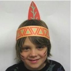Printable Native American Headdress