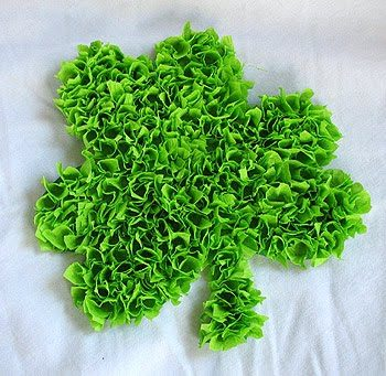 3D Tissue Paper Shamrock
