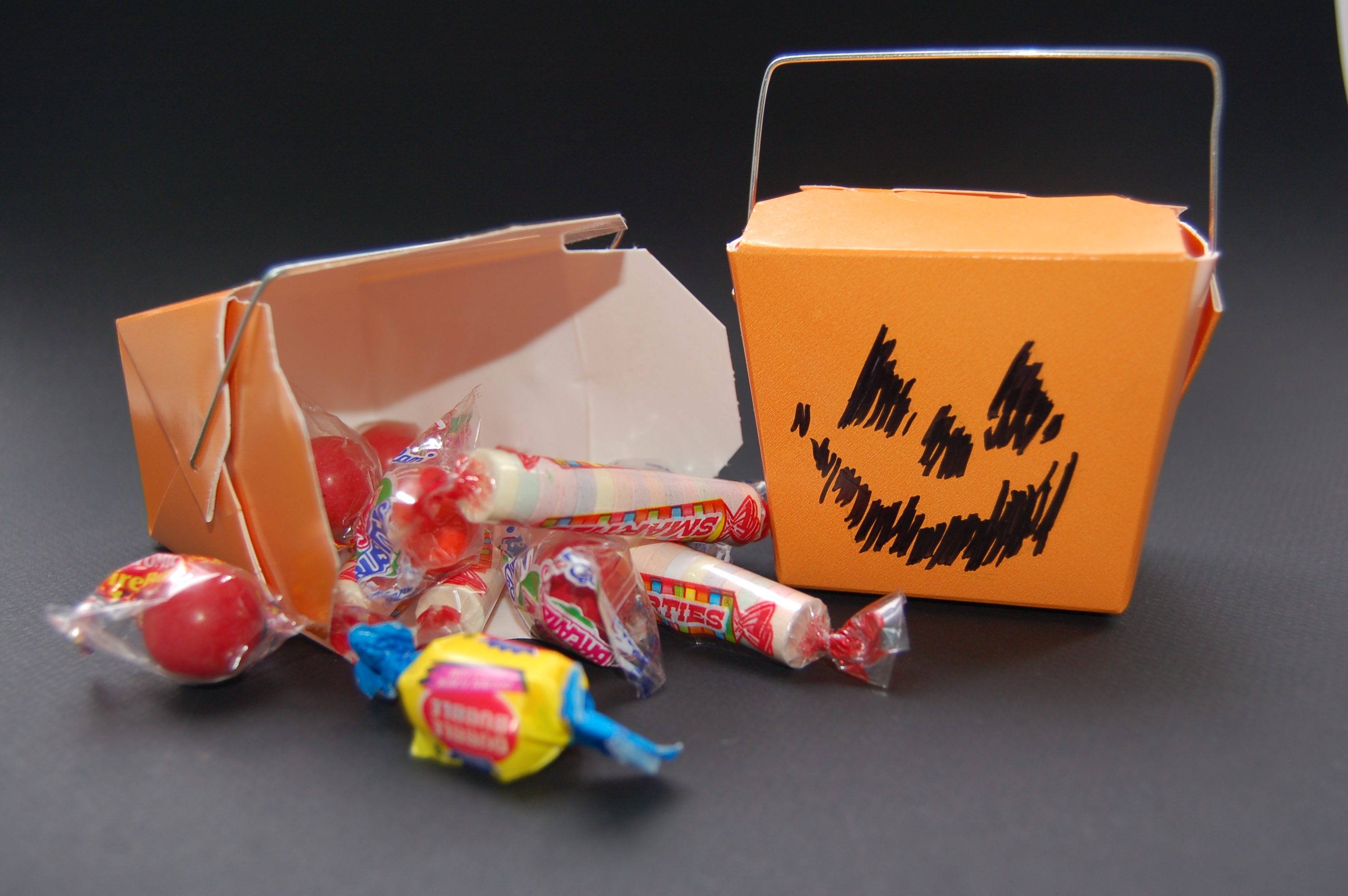 Pumpkin Chinese Takeout Treat Boxes