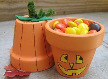 Pumpkin and Jack-o'-Lantern Pots