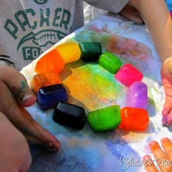 Rainbow Ice Painting