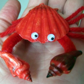 Red Seashell Crab