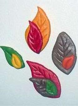 Salt Dough Leaf Magnets