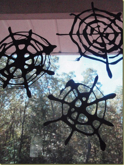 Spider Web Window Clings
