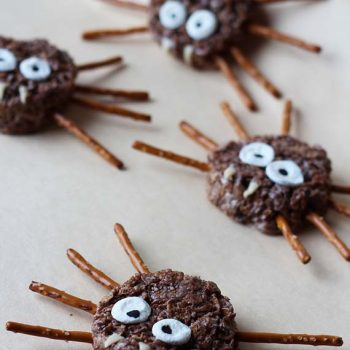 Rice Krispy Spiders