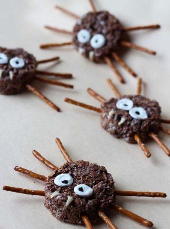 Rice Krispy Spiders