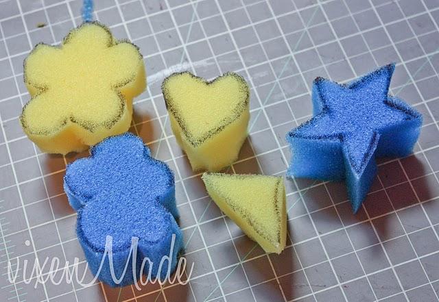 Homemade Sponge Stamps