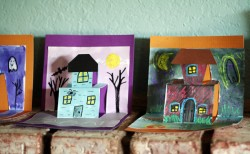 Spooky House Pop-Up Cards