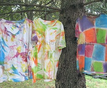 Fabric Painted Tie Dye Shirts