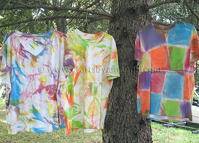 Fabric Painted Tie Dye Shirts Fun Family Crafts