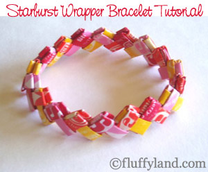 candy wrapper bracelet fun family crafts