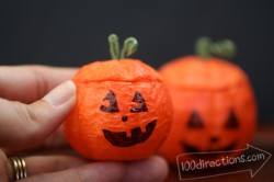 Mini Styrofoam Jack O'Lanterns