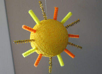 Foam Sun Ornament