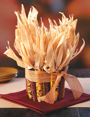 Indian Corn Centerpiece Fun Family Crafts