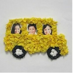 Tissue Paper School Bus Frame