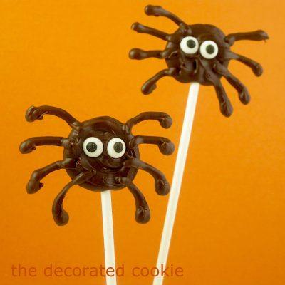 Chocolate Spider Pops