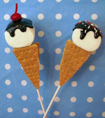 Ice Cream S'mores Pops